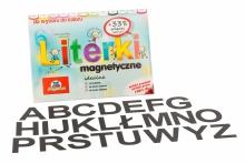 Alfabet Magnetyczny 5 cm - DUŻE Litery w kolorze czarnym
