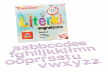 Alfabet Magnetyczny 5 cm - małe litery w kolorze liliowym