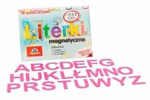 Alfabet Magnetyczny 5 cm - DUŻE Litery w kolorze fuksjowym