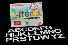 Alfabet Magnetyczny 5 cm - DUŻE Litery w kolorze białym