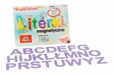 Alfabet Magnetyczny 5 cm - DUŻE Litery w kolorze lawendowym