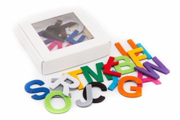 Alfabet magnetyczny z filcem DUŻE LITERY